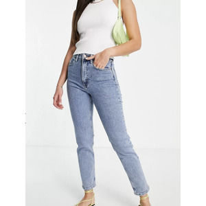 Asos Denim Stone Wash Slim Mom Fit Jeans 4